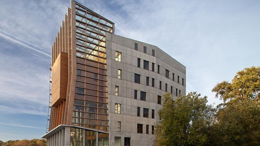 Enertic, el primer smart building de Euskadi con cero emisiones, destinado a empresas de energías renovables. Imagen cedida por Cortizo.