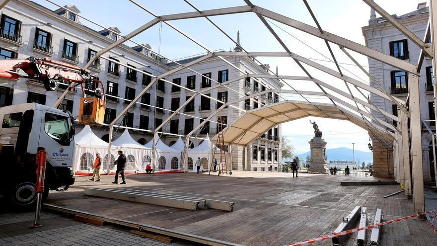 La pista de hielo abrirá al público el viernes en la Plaza Porticada