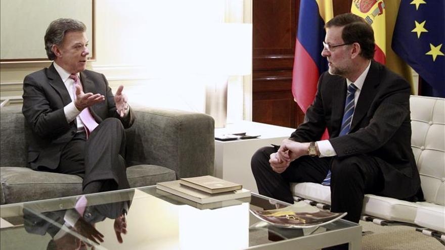 Santos inicia hoy una visita oficial a España con reuniones con el Rey y Rajoy