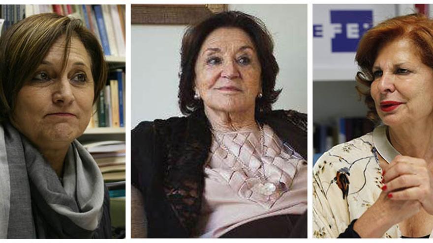 Isabel Morant, Antonia Mir y Carmen Alborch