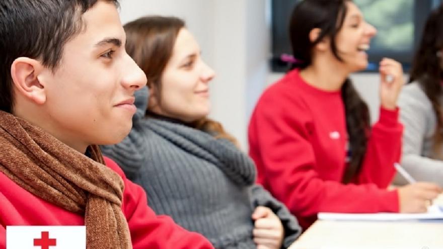 Participantes en una de las actividades de Cruz Roja Navarra / Foto: cedida.