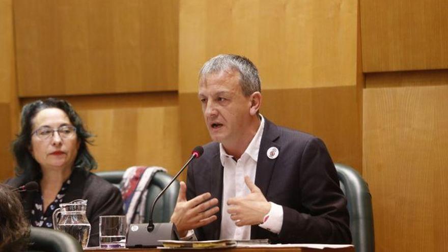 Fernando Rivarés, concejal de Podemos en el Ayuntamiento de Zaragoza.