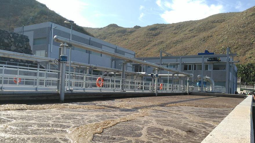 Estación depuradora de Valle de Guerra, en La Laguna, tras las obras recientes de ampliación