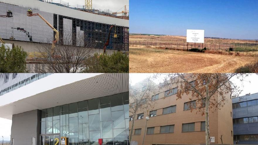El nuevo hospital de Toledo, los terrenos donde se planteaba ubicar el ATC, el aeropuerto de Ciudad Real y las viviendas de Gicaman en Guadalajara