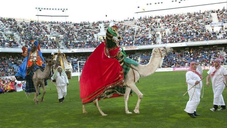 Los Reyes Magos, en el estadio Heliodoro Rodríguez, en una imagen de archivo
