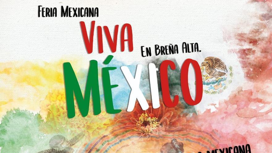 Cartel de la fiesta 'Viva México'.