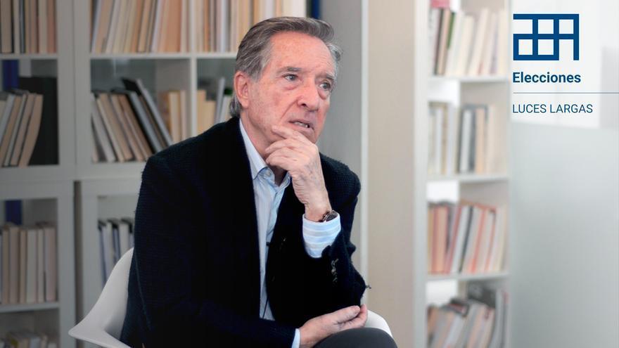 El periodista Iñaki Gabilondo en una entrevista con eldiario.es