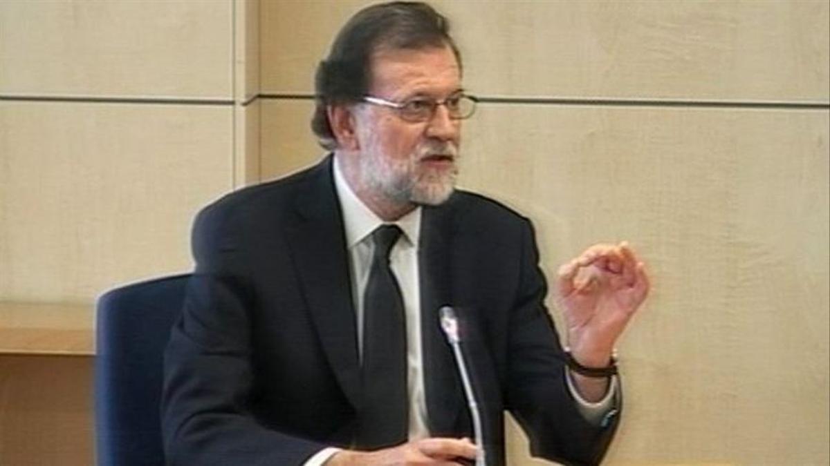 El ex presidente del PP Mariano Rajoy en un momento de su declaración en el juicio Primera Época de Gürtel