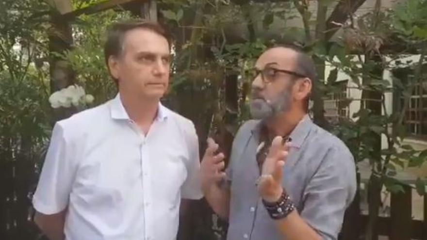 Bolsonaro y Lili Ferraz