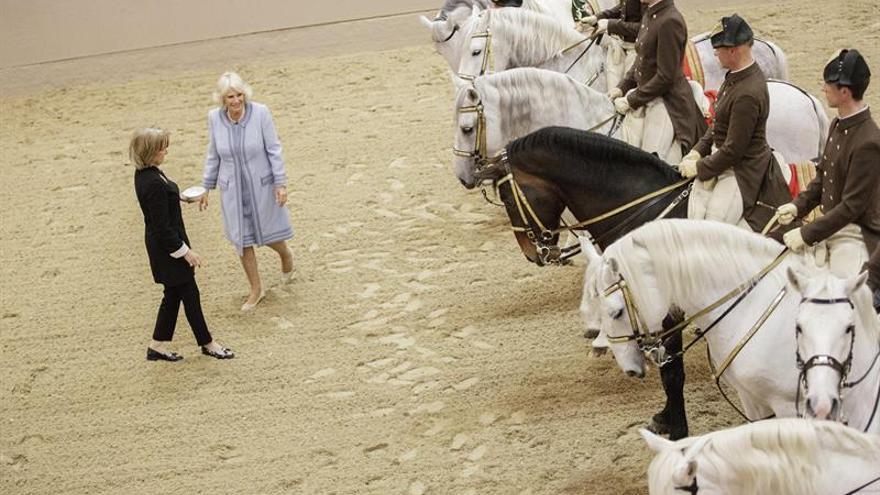 El príncipe Carlos y Camilla visitan el Musikverein y el Museo Judío de Viena