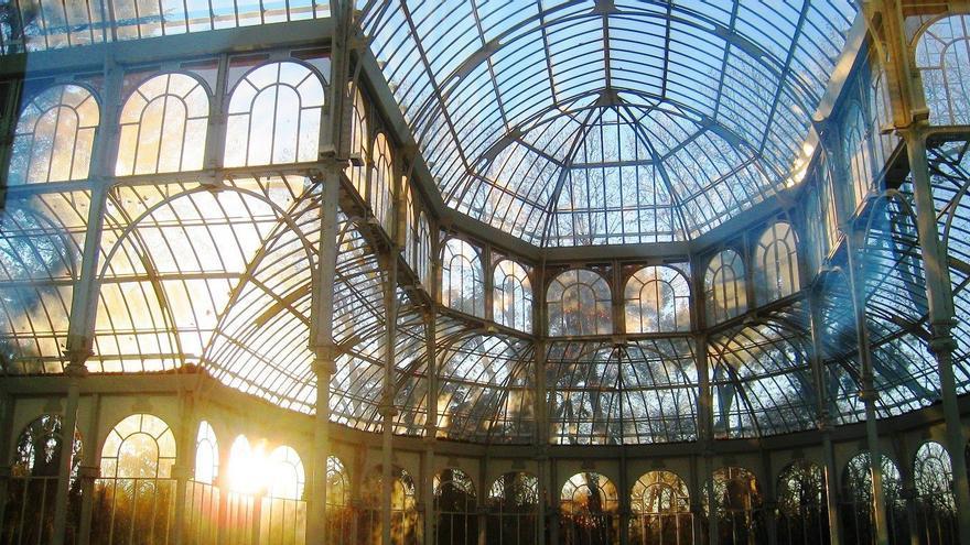 El Palacio de Cristal, en el Parque del Retiro de Madrid
