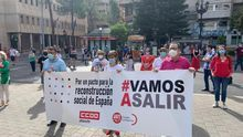 Concentración en Albacete FOTO: CCOO