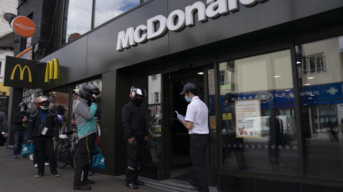 Un McDonald's en Reino Unido.