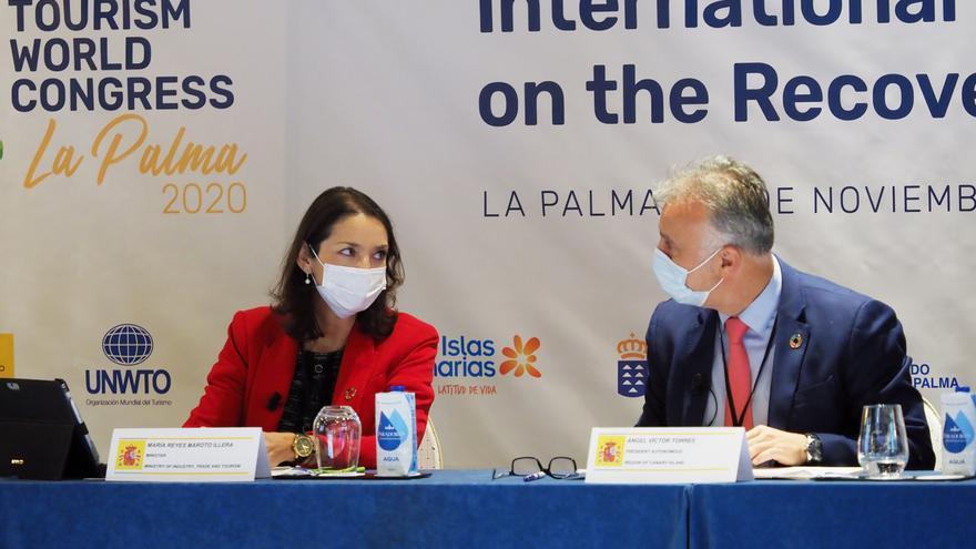 Representantes del turismo mundial se adhieren a la 'Declaración de La Palma' para recuperar los viajes internacionales seguros