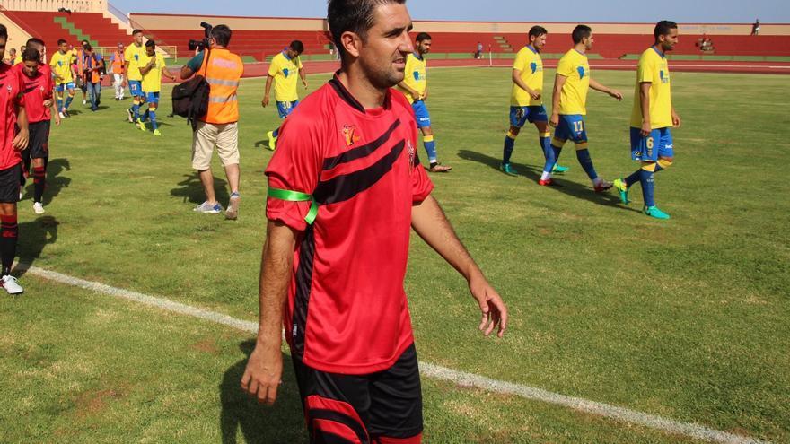 Yeray Pérez es el autor del gol de este domingo. Foto: JOSÉ AYUT.