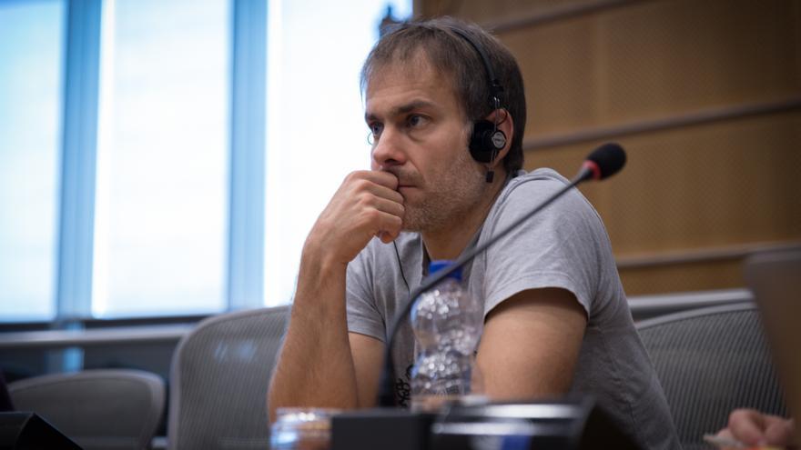 Ignacio Robles, en el Parlamento Europeo.