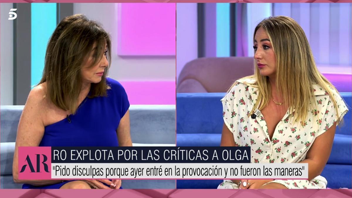 Ana Rosa Quintana ante Rocío Flores en 'El programa de AR'