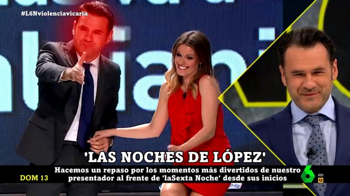 Iñaki López pasándolo 'mal' con el vídeo sorpresa de 'laSexta Noche'