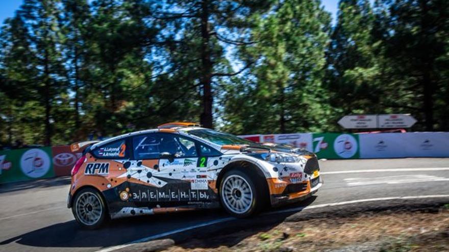 El Ford Fiesta R5 del campeón del 40 Rally Islas Canarias, Alexey Lukyanuk.