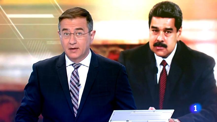 Pedro Carreño en el Telediario 1 de TVE, sobre Maduro
