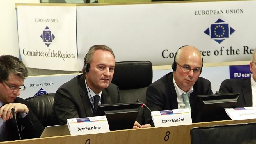 Alberto Fabra, durante su intervención en el Comité de las Regiones