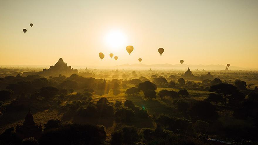 Viajes en globo, Bagan, Myanmar