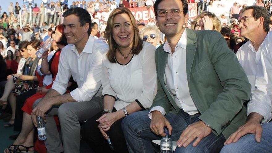 Pedro Sánchez Susana Díaz Francisco Cuenca