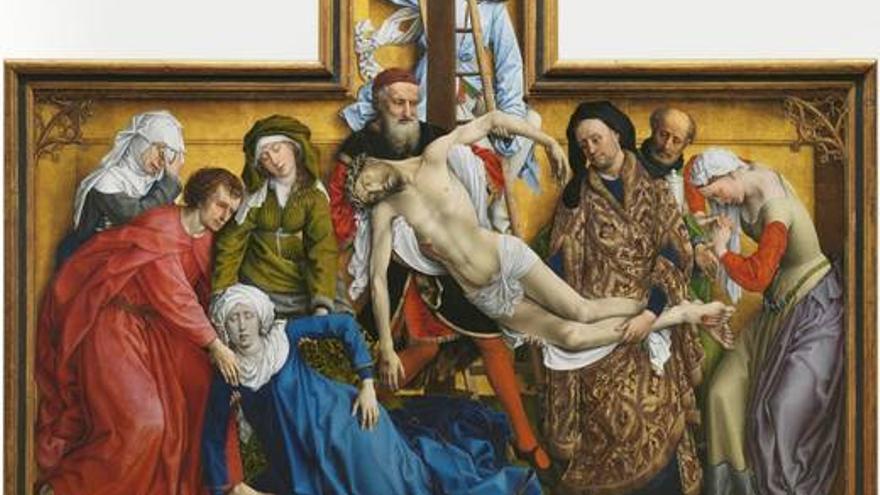 El Descendimiento, Rogier van der Weyden. Fotografía de la web del Museo del Prado