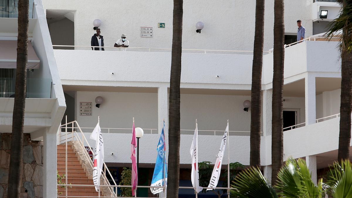 Personas migrantes albergadas en hoteles al sur de Gran Canaria
