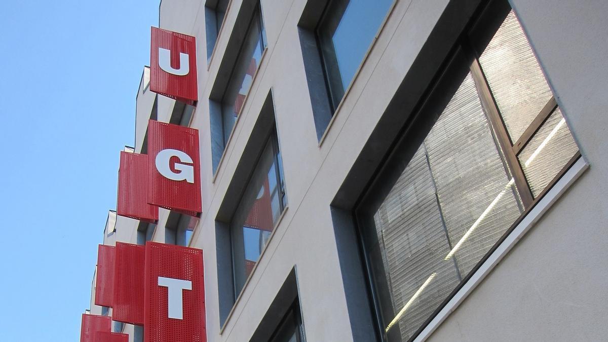 La sede de la UGT en Catalunya