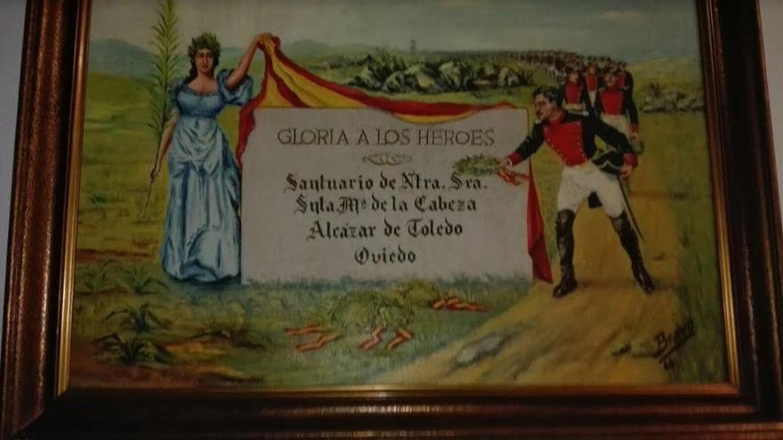 Vestigio franquista aún permanece en la sede de la Comandancia de la Guardia Civil en Badajoz