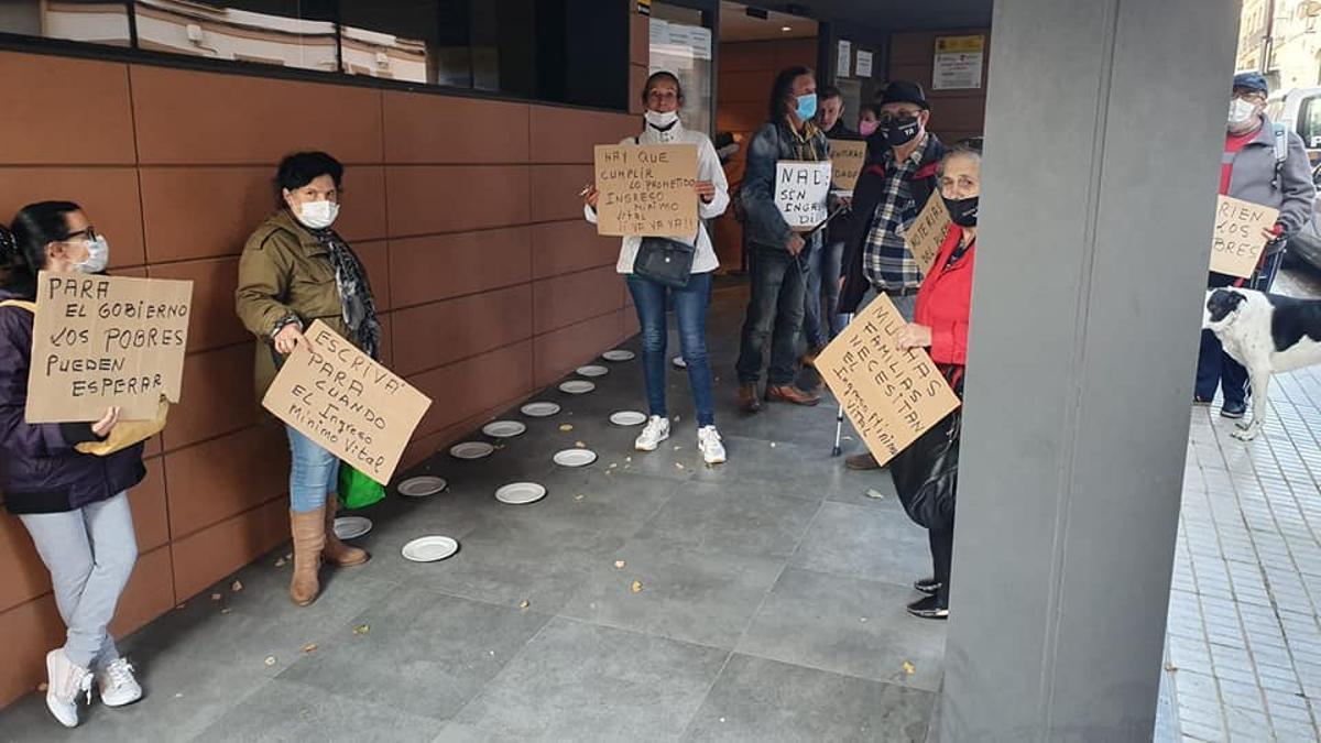 Protesta convocada por Campamento Dignidad en Mérida por el Ingreso Mínimo Vital
