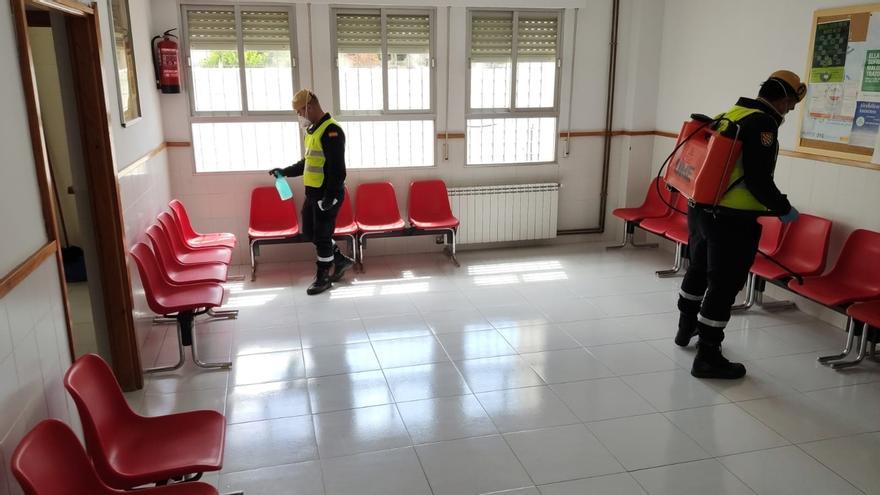 La UME prosigue tareas de desinfección en residencias y centro de discapacitados con casos