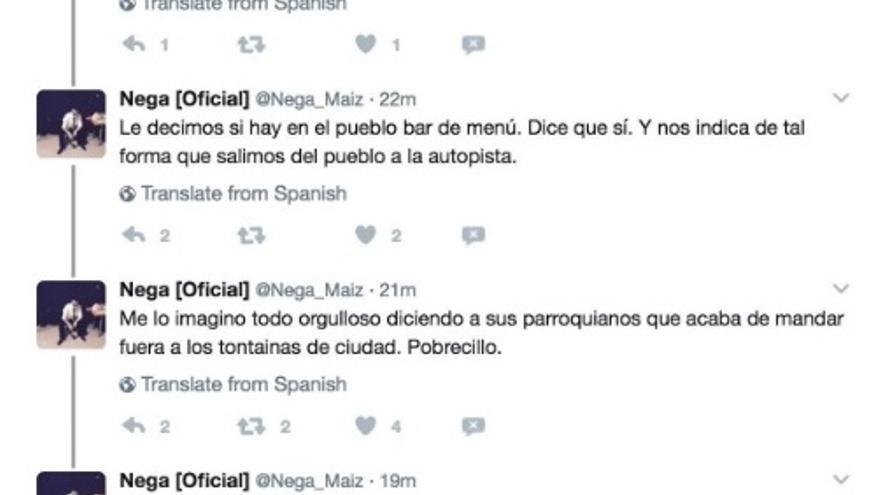 Tuits de El Nega sobre Fuentidueña de Tajo