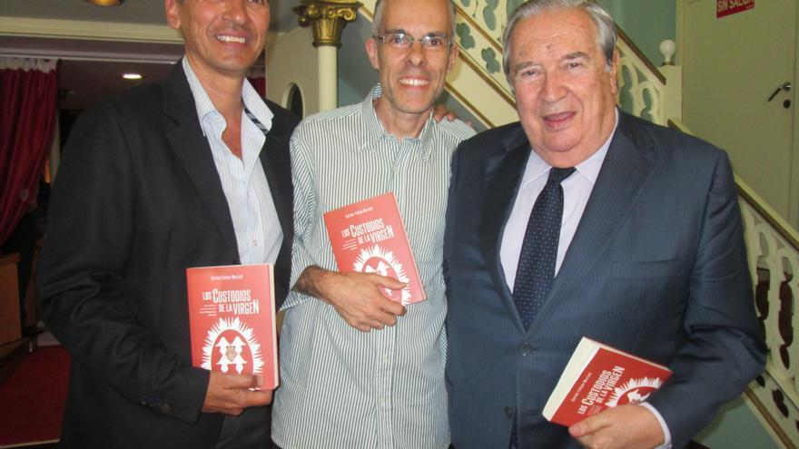 José Rodríguez Escudero (i), Carlos Marte y Jerónimo Saavedra, este viernes. Foto: LUZ RODRÍGUEZ.