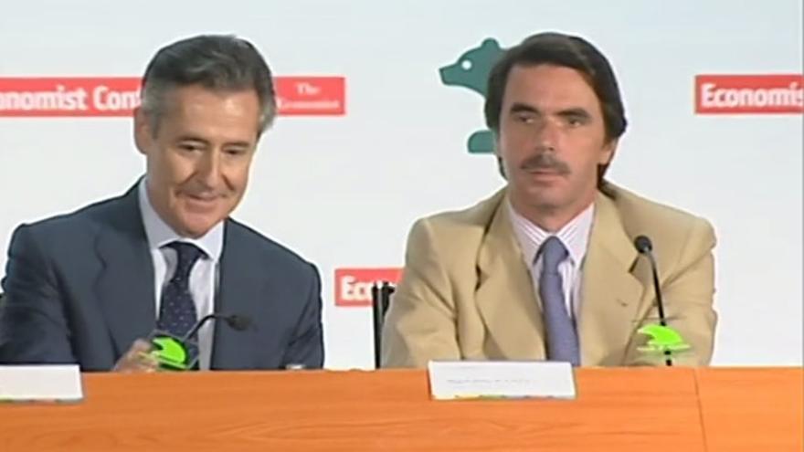 Imagen de Blesa y Aznar en una pieza de La 2 Noticias