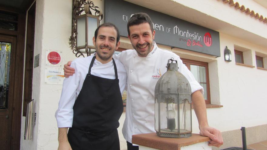 Alberto García (Jefe de cocina de El Carmen de Montesión) e Iván Cerdeño / Foto: Diego Jimeno Manrique