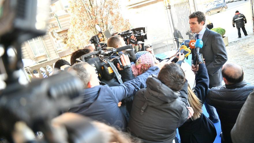 Pablo Casado, en Bruselas, el 13 de diciembre de 2018.