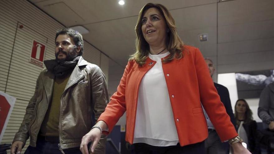 """Susana Díaz: """"Nadie puede doblegar la democracia con el terror"""""""