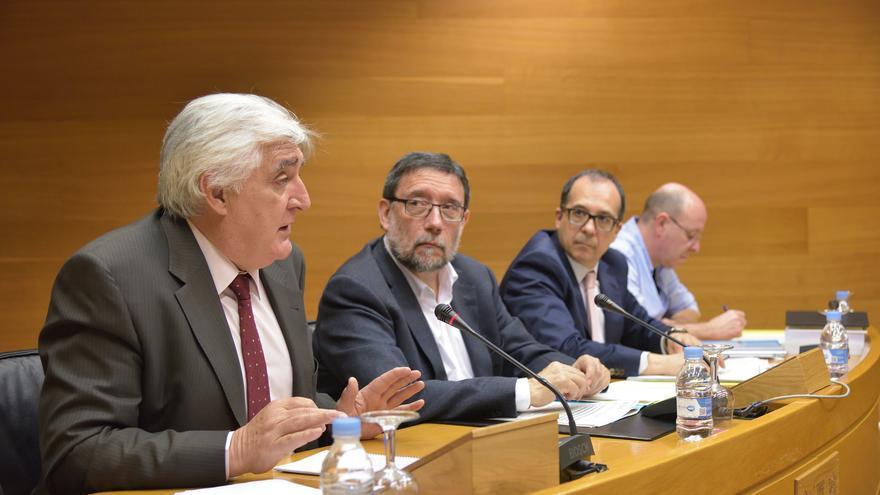 El representante de Geroresidencias, José María Peris, en su comparecencia de este lunes en les Corts