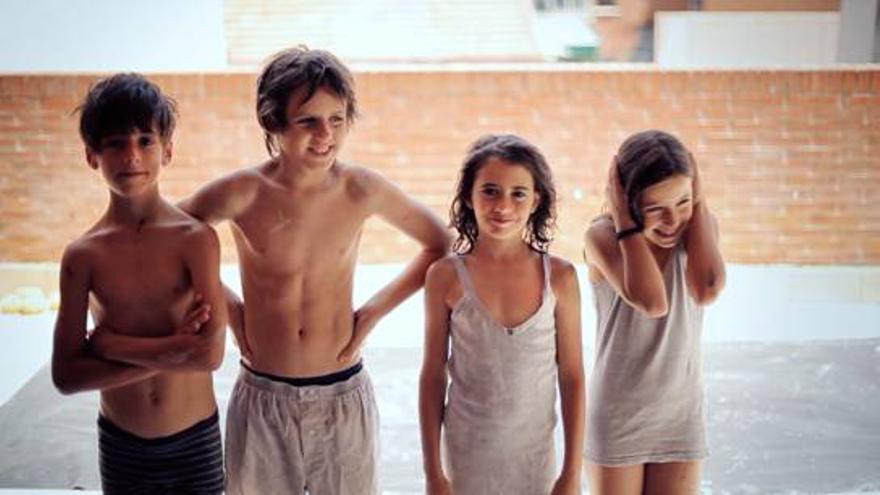 Imagen de los cuatro niños en los que se centra la película