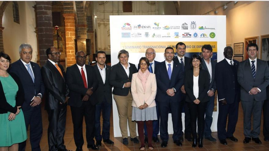 En la imagen, representantes de las entidades de la red transnacional de desarrollo turístico y sostenible.
