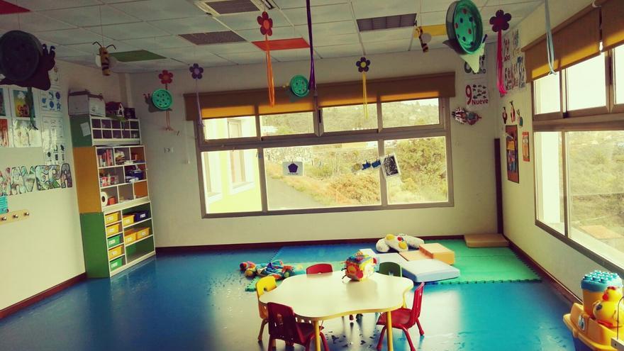 Interior de la Escuela Municipal Infantil de Tijarafe.