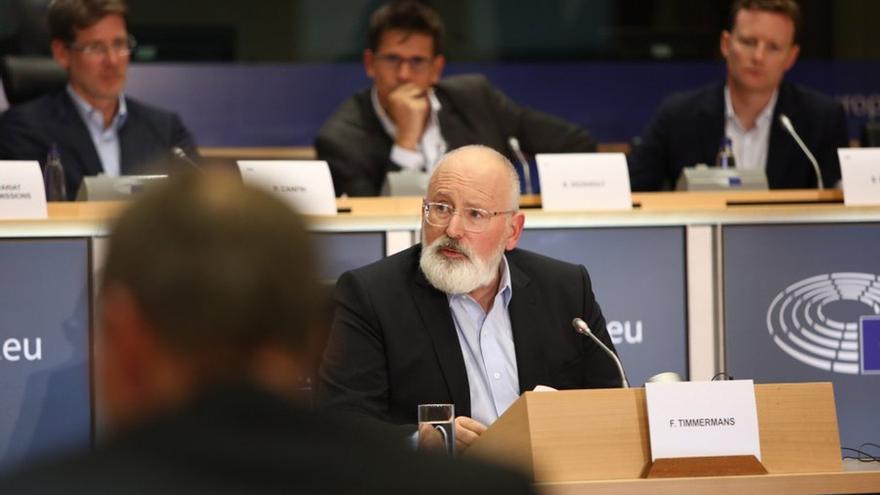 El vicepresidente de la Comisión Europea Frans Timmermans
