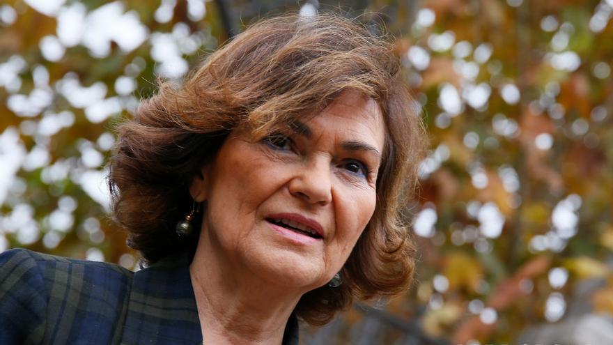 La vicepresidenta del Gobierno, Carmen Calvo   MADERO CUBERO