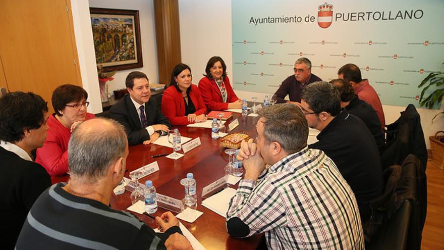 Emiliano García-Page se reúne con el Comité de Empresa de Elcogas / JCCM