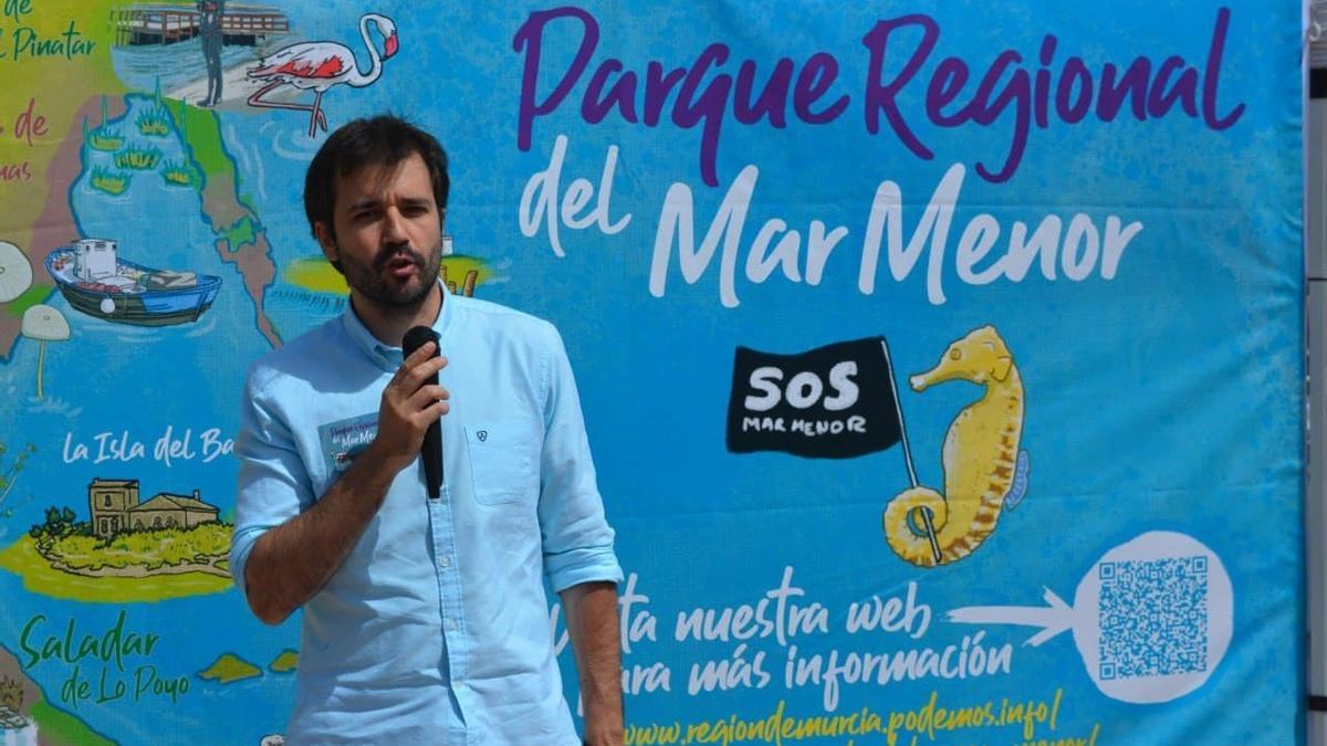 El coordinador autonómico de Podemos, Javier Sánchez Serna