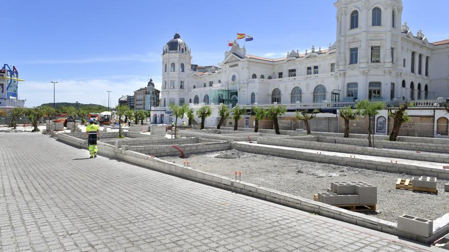 Obras de la Plaza de Italia de Santander.