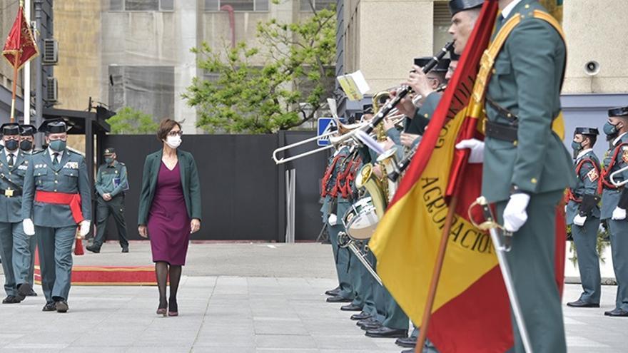 La directora de la Guardia Civil, María Gámez, en un acto por el 177 aniversario del Instituto Armado