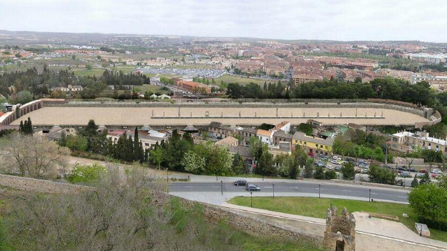 Recreación del circo romano en Toledo, por Eduardo Sánchez Butragueño